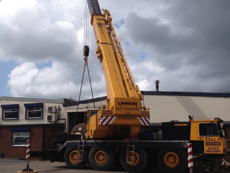 The Hydraulic Crane Is Used To Lift The 1400 : Centurion blast cleaning ltd gallery leyland preston