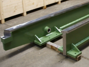 Photo - Shotblasted and painted steel paper machine parts for Walmsleys UK