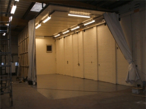 A shot of our sizeable spray booth