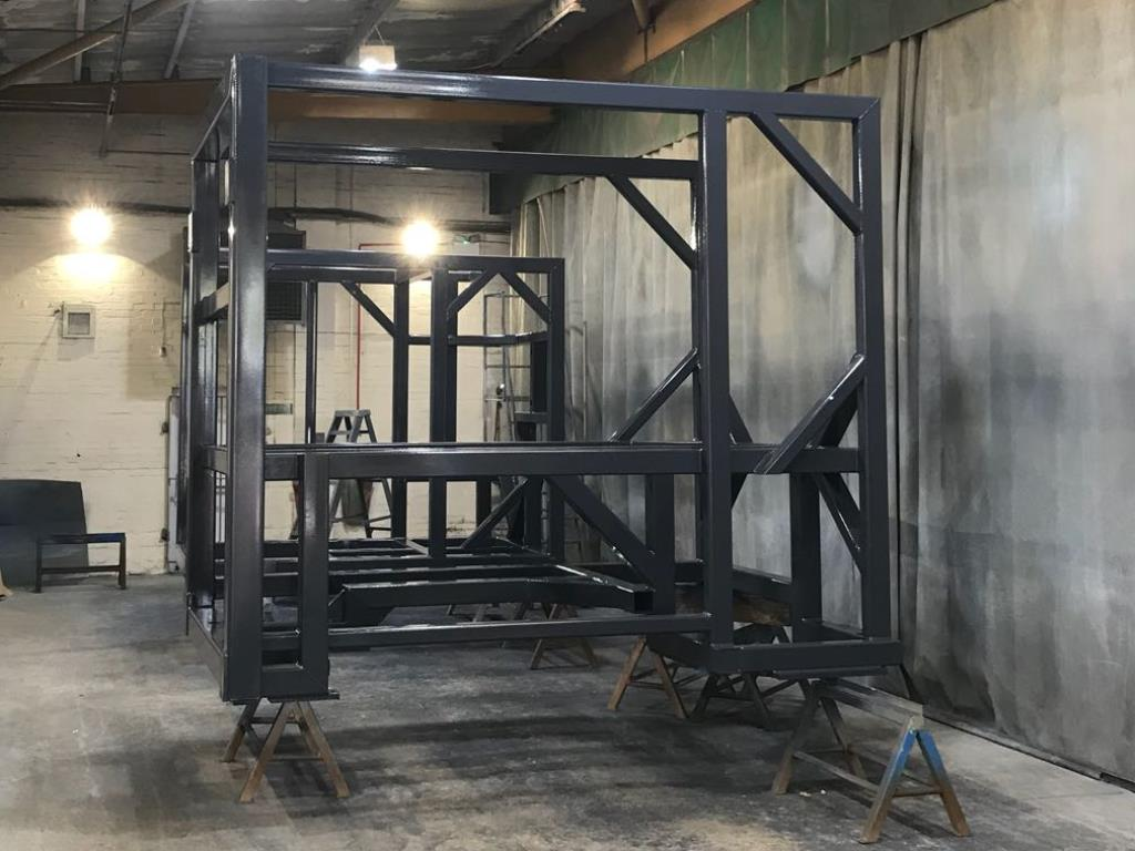 Chemical resistant coating applied to frames destined for China