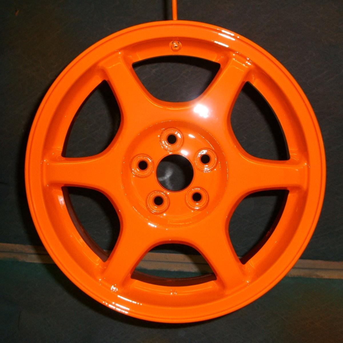 Powder coated alloy wheels